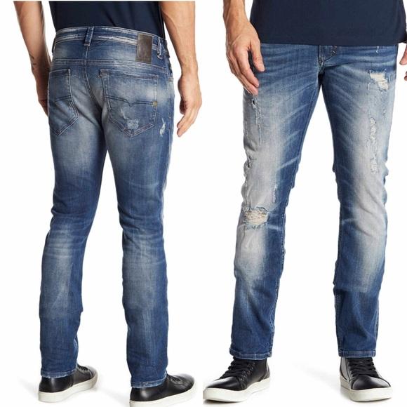 80636cb0 Diesel Jeans | Nwt Thavar Distressed Slim Skinny 33 | Poshmark